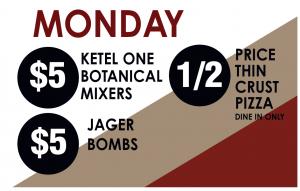 Monday Drink Specials