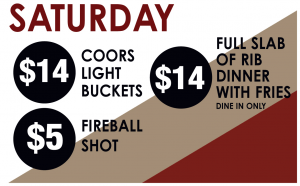 Saturday Drink Specials