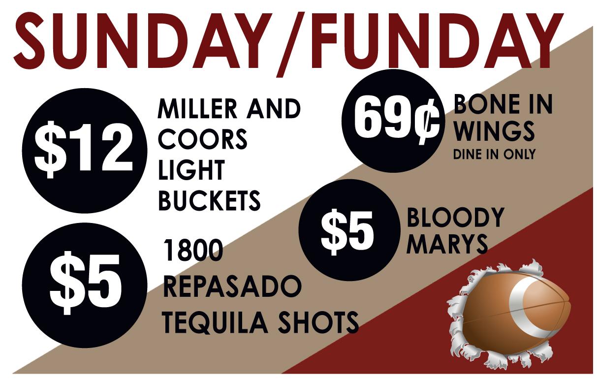Sunday Drink Specials