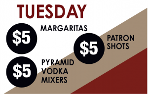 Tuesday Drink Specials
