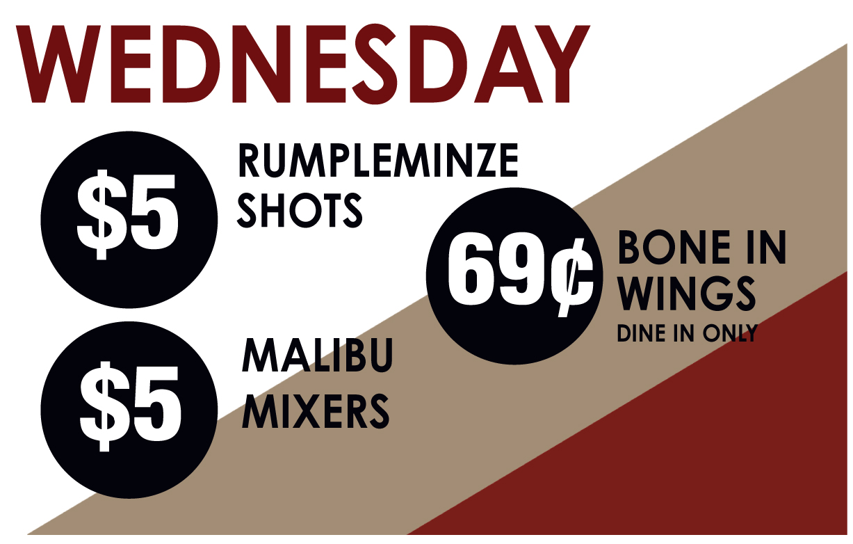 Wednesday Drink Specials